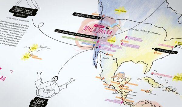 Eine Weltkarte für Yogafans