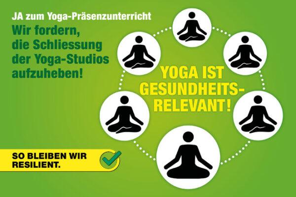 Yoga-Präsenzunterricht erlauben